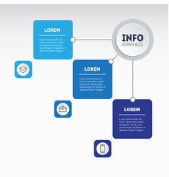 example a chart or mind map with three steps vector image