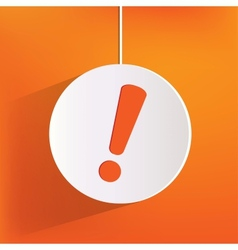 Exclamation danger web icon vector image