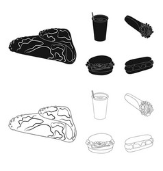 Fast meal eating and other web icon in black vector