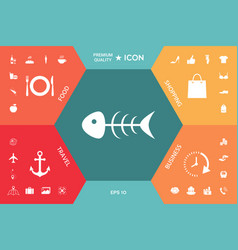 fish skeleton icon vector image