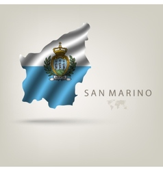 Flag of SAN MARINO as a country with a shadow vector image vector image