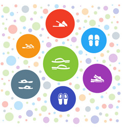 Flop icons vector