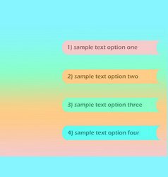 four option steps infographic sample text layout vector image