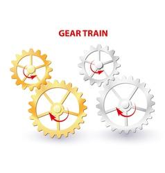 Gear train vector image