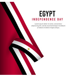 Happy egypt independence day celebration poster vector