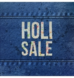 Holi Sale paper Words with color Splashes vector