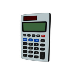 isolated calculator office tool vector image