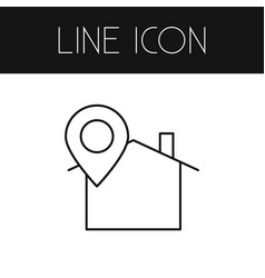 isolated location icon line pinpoint vector image