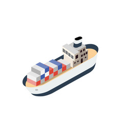 Isometric ship container vessel vector