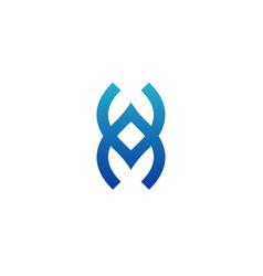 Letters va or av alphabet logo template for vector