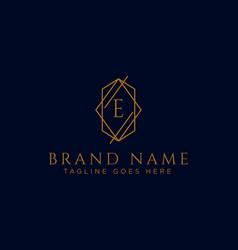 Luxury logotype premium letter e logo with golden vector