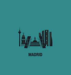 madrid principal buildings vector image