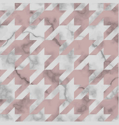 Marble texture luxury houndstooth seamless vector