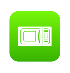 microwave icon green vector image