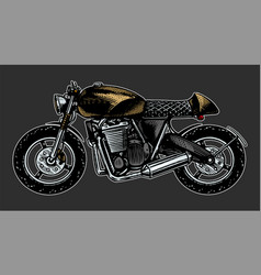 Motorcycle or bike retro motor bicycle hand vector