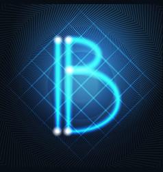 neon letter capital alphabet text lettering vector image