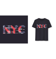 new york city urban graphic t-shirt design vector image