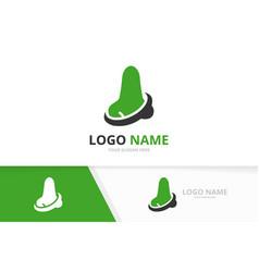 nose logo combination ent clinic vector image