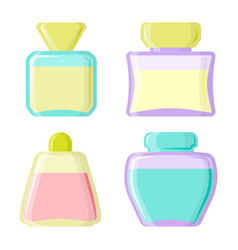 perfume glamour fashionable beautiful cosmetic vector image vector image