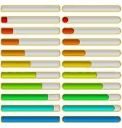 Progress bars set vector image vector image