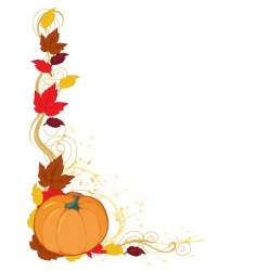 pumpkin autumn border vector image