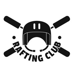rafting club helmet logo simple style vector image