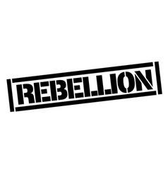 Rebellion typographic stamp vector