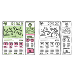 responsive website layout doodles vector image