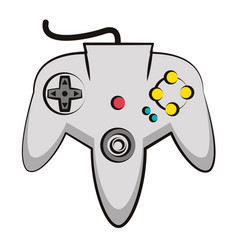 Retro console gamepad vector
