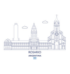 rosario city skyline vector image