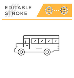 school bus line icon vector image