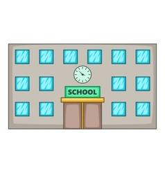 School icon cartoon style vector