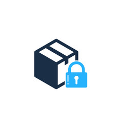 security box logo icon design vector image