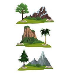 set landscapes vector image