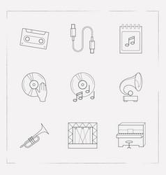 Set of studio icons line style symbols with vector