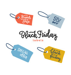 set tags for black friday sale banners label vector image