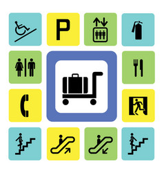 Shopping mall icons vector