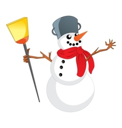 Snowman with scarf vector image