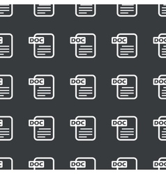 Straight black DOC file pattern vector