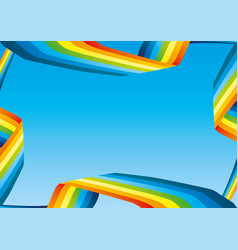 summer banner with bright rainbow vector image