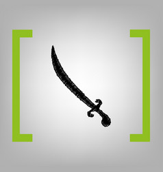 sword sign black scribble vector image
