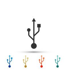 Usb symbol icon isolated on white background vector