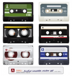 Vector audio cassettes vector