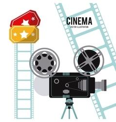 video camera movie film reel cinema icon vector image