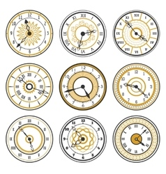 Watch face collection vector