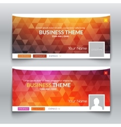 Web business site Header Layout Template Profile vector image