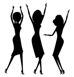 women dancing in nightclub clubbers party ladies vector image