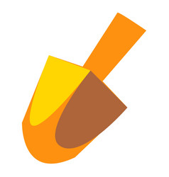 Yellow dreidel icon cartoon style vector