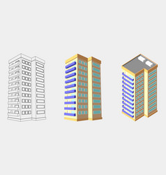 Isometric house 3d home plan isolated vector