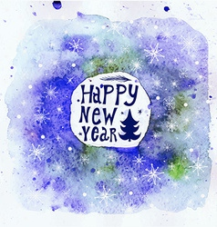 New Year Greeting Card Happy new year lettering vector image